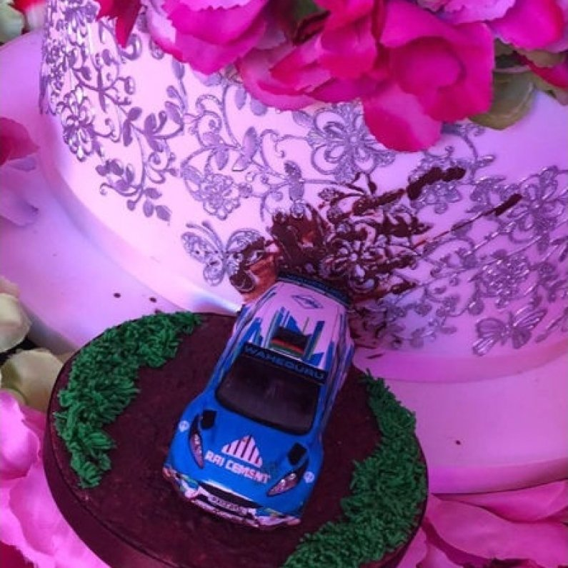 rally car wedding cake topper ast transport branding s mini rally car wrap is icing on 18964