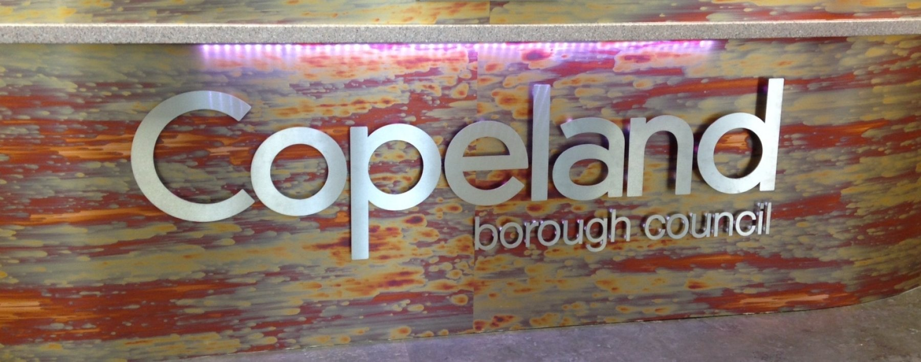 Copeland Council signage by Ast Signs
