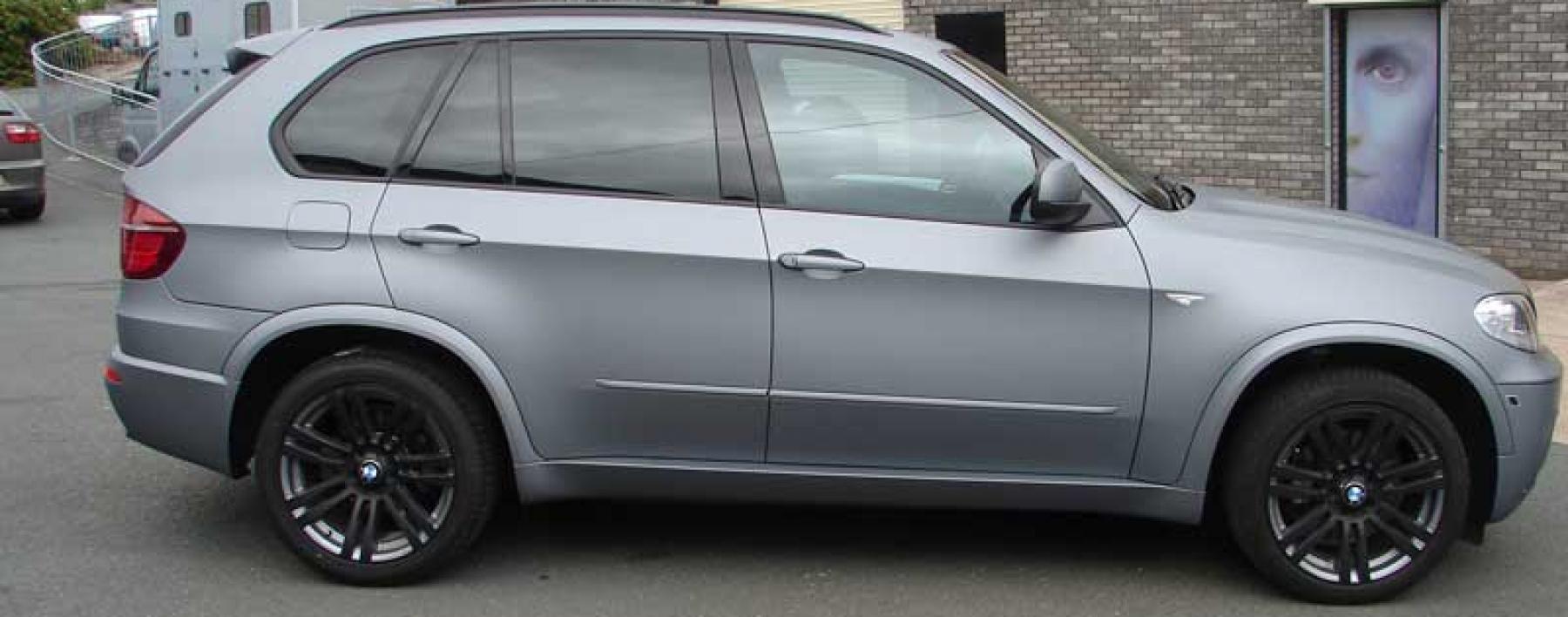 Bmw X5 Matte Grey Colour Change Wrap Astsigns