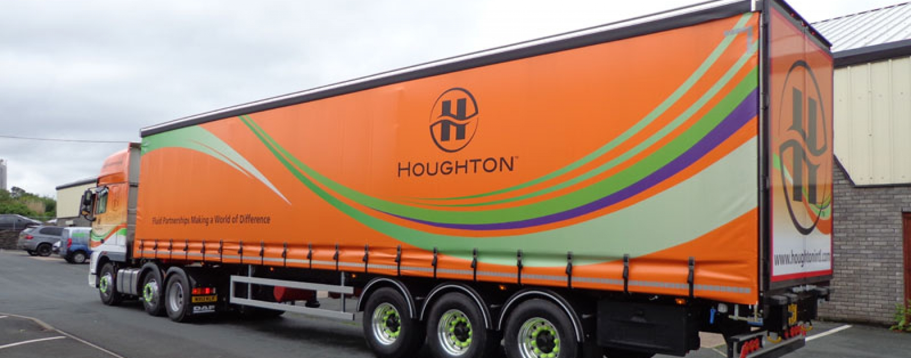 Houghton Oils vehicle livery by Ast Transport Branding