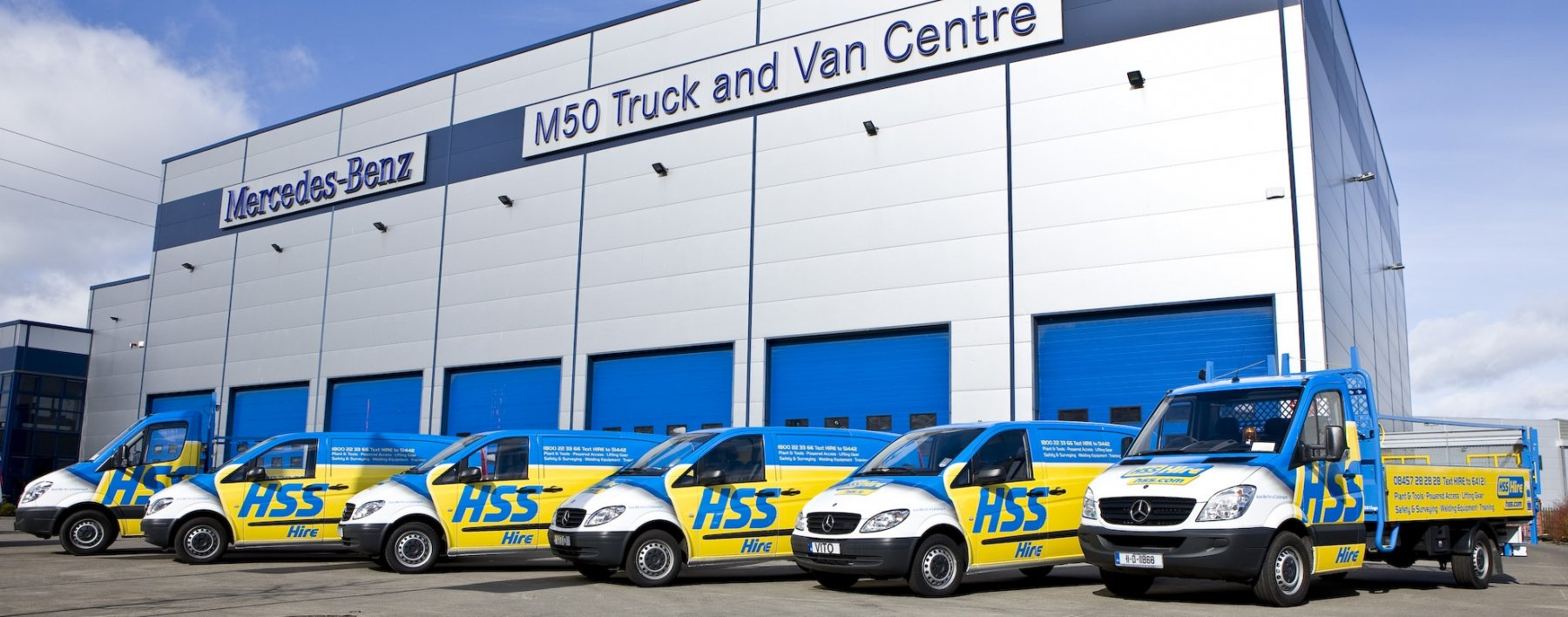 HSS Hire vehicle livery by Ast Transport Branding