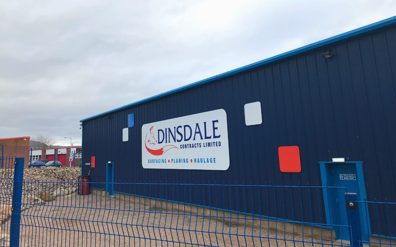 Dinsdale Contracts External Signage by Ast Signs Penrith Cumbria