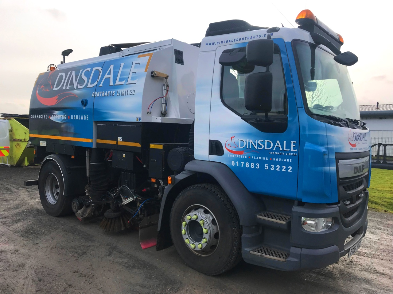 Dinsdale Contracts Truck Wrap Fleet Livery by Ast Transport Branding Penrith Cumbria