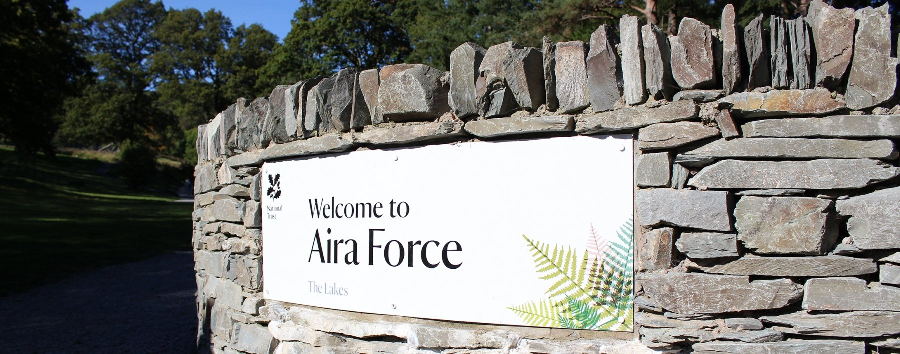 National Trust Aira Force Signs