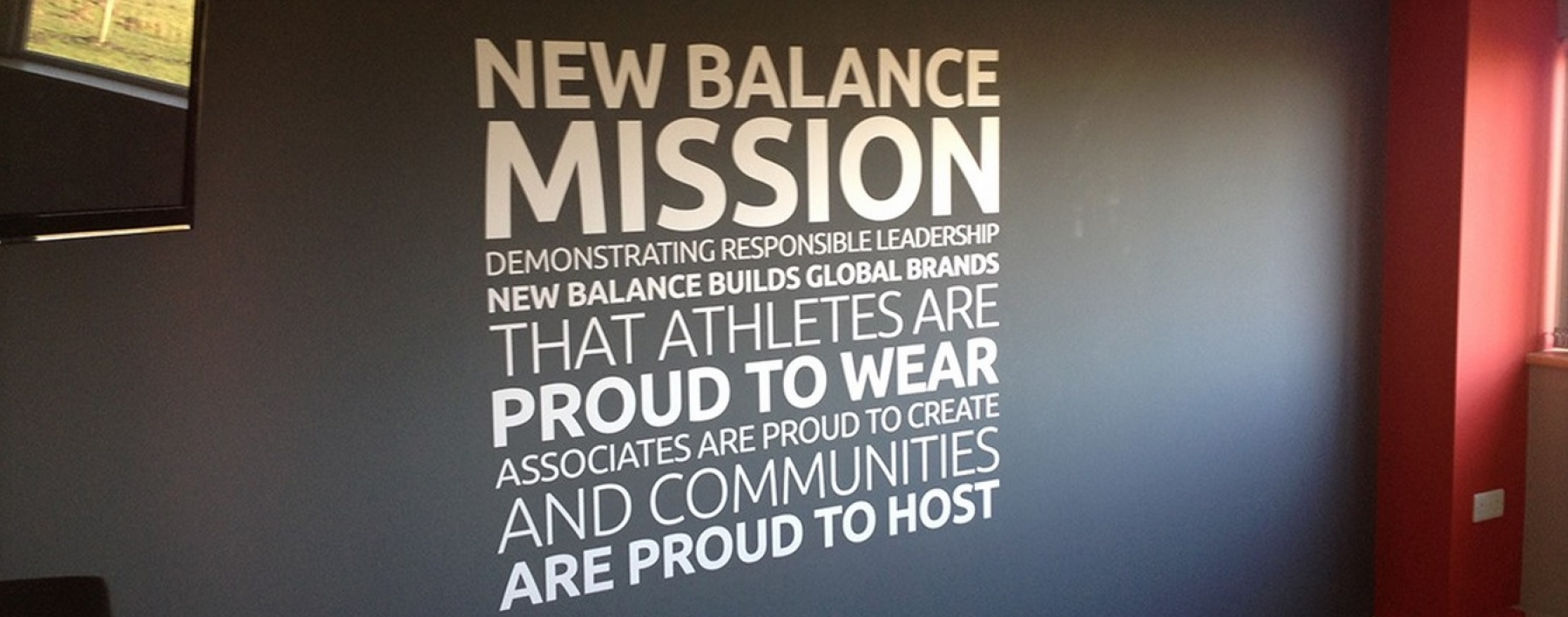 new wall feature for new balance shoes astsigns. Black Bedroom Furniture Sets. Home Design Ideas