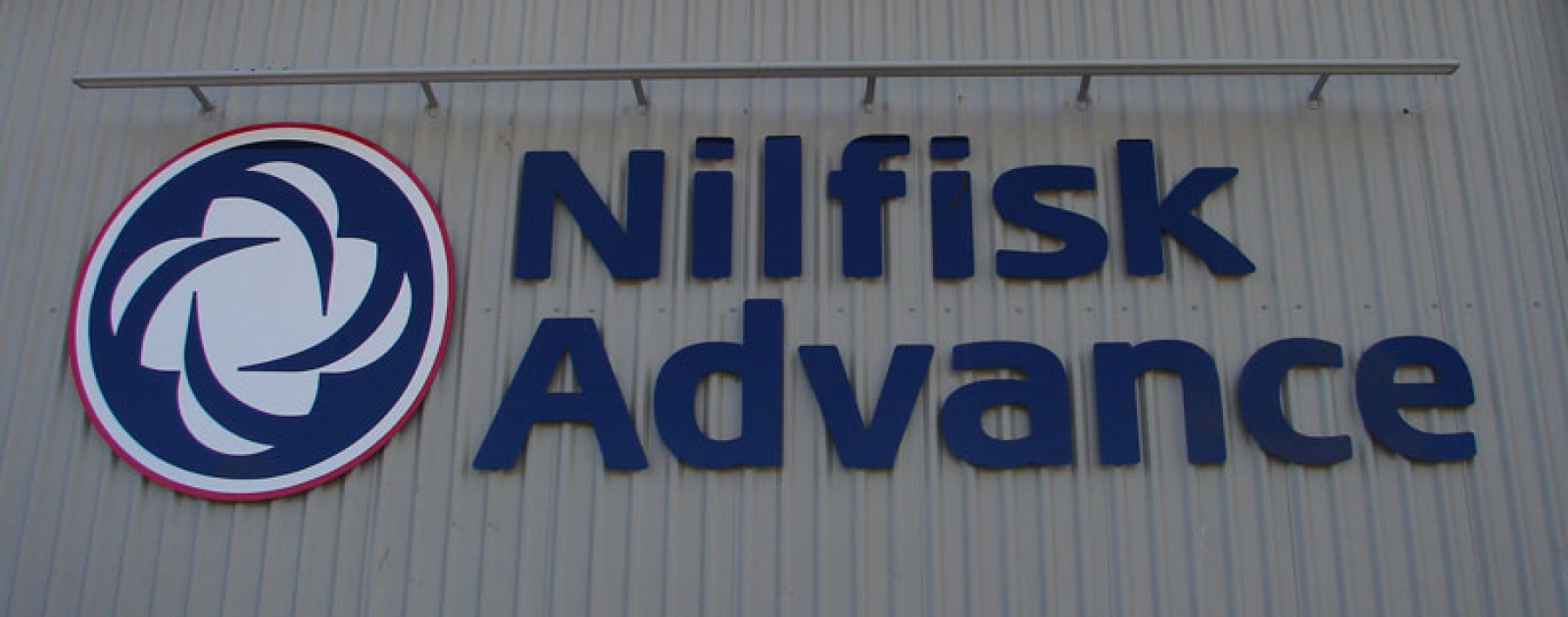 Nilfisk Advance Building Signage by Ast Signs