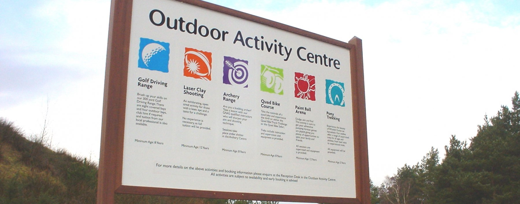 center parcs signage by Ast Signs