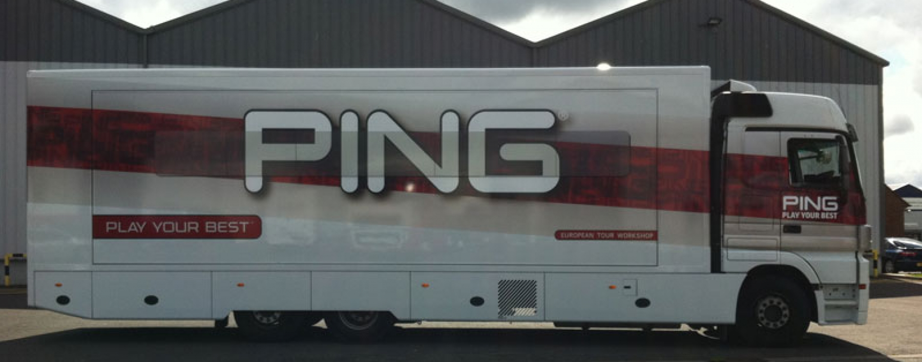 Ping trailer wrapped by Ast Transport Branding