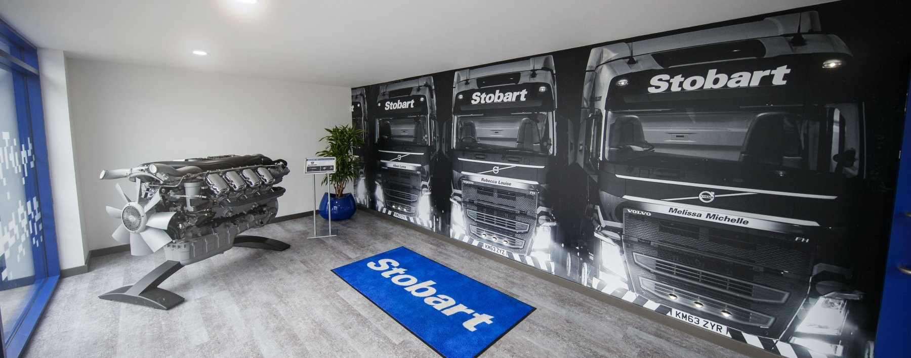 Eddie Stobart Support Centre reception wall wrap